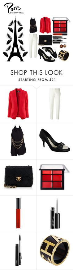 """·PARIS·FASHION·WEEK1619"" by ferdelosh ❤ liked on Polyvore featuring Ermanno Scervino, Chanel, MAC Cosmetics and Été Swim"