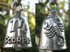 SCORPIO BIRTHDAY MOTORCYCLE BIKER GUARDIAN BELL PROTECT YOUR RIDE FROM EVIL