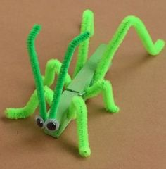 Clothes Pin Grasshopper Craft
