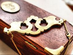 Necklace made using real antique key plate $50