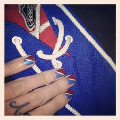 #NYR manicure to watch the game at the bar #arizonak #manicure