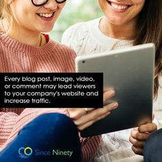 Every blog post, image, video, or comment may lead viewers to your company's website and increase traffic. www.sinceninety.com  #socialmedia #marketing #branding #socialmediamarketing #advertising #business #marketingdigital #digitalmarketing #agencylife #agency #startup Marketing Branding, Social Media Marketing, Digital Marketing, Competitor Analysis, Advertising, Website, Business, Amazing, Blog