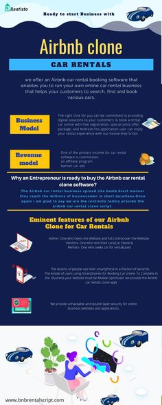Start your Business with Flourishing Airbnb Business model. We provide Airbnbclonescript for Car Rentals business. AirbnbCloneScript for Car Rentals is an Online marketplace for renting private cars for the people around you, and start earning. Online Cars, Online Marketplace, Renting, Car Rental, Starting A Business, How To Plan, People, Model, Folk