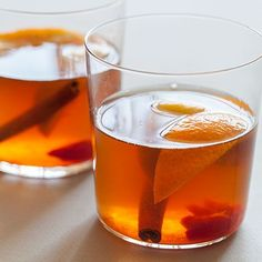 A winter spiced old fashioned- yum!