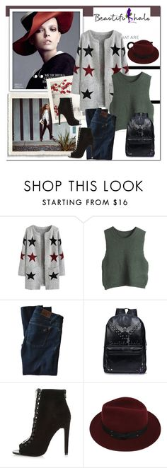 """""""Beautifulhalo"""" by newoutfit ❤ liked on Polyvore featuring DL1961 Premium Denim, River Island, Sans Souci and beautifulhalo"""