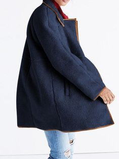 Stand Collar Patchwork Long Sleeve Coat - Deep blue S Bikinis For Sale, Coat Stands, British Indian, Types Of Sleeves, Sleeve Styles, Underwear, Normcore, Deep Blue, Pure Products