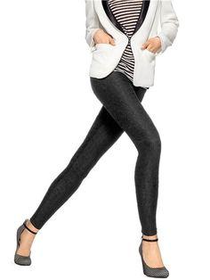 HUE U14609 Bonded Lace Leggings in Black, Size X-Large