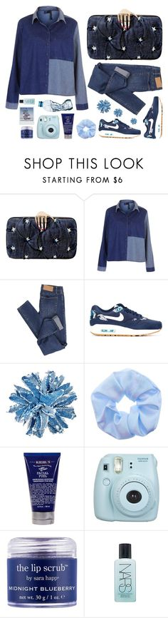 """""""Blue as the Sea"""" by mareninasweater ❤ liked on Polyvore featuring Benedetta Bruzziches, Boutique, Cheap Monday, NIKE, Studio 1735, Kiehl's, Sara Happ, NARS Cosmetics and denim"""