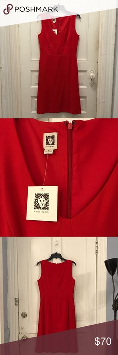 🎉HP🎉 Anne Klein red dress 🎉HP🎉 Anne Klein poppy red dress. Great shift dress. Size 8. Durable quality fabric. Perfect for the work day or a lunch date! NWT and never worn. Anne Klein Dresses