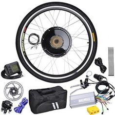 """AW 26"""" Wheel Electric Bicycle LCD Display Motor Kit E-Bike Conversion 48V1000W http://topbestbikes.com/shop/"""