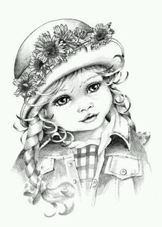 Learn to draw with a pencil - DIY art %%page%% - Architecture E-zine Landscape Pencil Drawings, Pencil Drawings Of Girls, Love Drawings, Art Drawings Sketches, Adult Coloring Pages, Coloring Books, Coloring Sheets, Harry Potter Portraits, Children Sketch