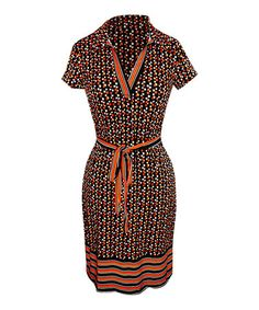 Another great find on #zulily! Red & Black Polka Dot Notch Neck Dress by Bonmode #zulilyfinds