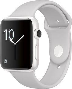 Apple - Apple Watch Edition 42mm White Ceramic Case White Sport Band - White
