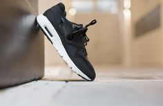 NIKE W AIR MAX 1 ULTRA ESSENTIALS BLACK/BLACK-SAIL  available at www.tint-footwear.com/nike-w-air-max-1-ultra-essentials-704993-001  Nike air max 1 wmns ultra essentials black sneakers runners kicks tint footwear studio munich
