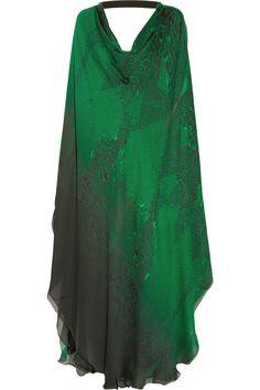 Cavalli silk kaftan - gonna wear these like crazy when I'm a crazy old lady :)