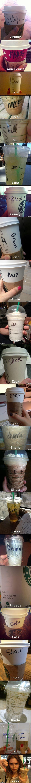 Starbucks baristas spelling names wrong. SO funny!