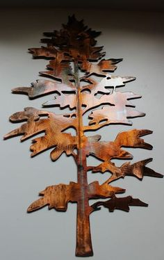Charming Majestic Pine Tree Metal Wall Art Decor By HEAVENSGATEMETALWORK, $27.99