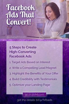 Want to run high-converting Facebook ads? FB ads are the best way to grow your business and email list - if you do them right. Read this and you can!