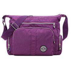 Women Multilayer Zipper Pockets Light Messenger Bags Shoulder Bags Outdoor Waterproof  Crossbody Bag b9a7efd78549b