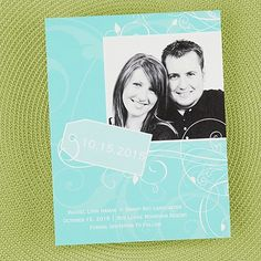 Tagged Save the Date Card - Lagoon