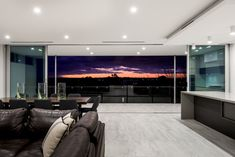 Robeson Architects The design of this home was all about capitalising on the sites 180 degree river views extending from East Fremantle to Perth City. Open Up, Ground Floor, Living Area, Flooring, Perth, Architects, Table, House, River