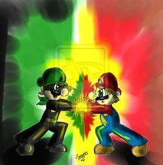 Mario vs. Mr. L by XxSassersxX.deviantart.com on @deviantART