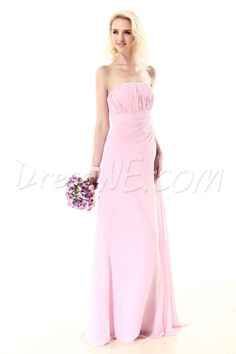 Dresswe.com SUPPLIES New Style Ruched Sheath/Column Strapless Floor-Length Nastye's Bridesmaid Dress 2013 Bridesmaid Dresses