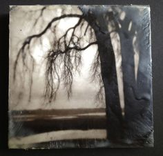 This photo encaustic of a winter landscape near Lake Michigan was printed with archival Carbon inks on fine art water color paper, then mounted to a poplar wood board with black edges. Description from etsy.com. I searched for this on bing.com/images