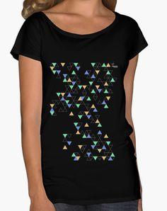 Camiseta Triángulos Camiseta mujer cuello ancho & Loose Fit  18,90 € - ¡Envío gratis a partir de 3 artículos!