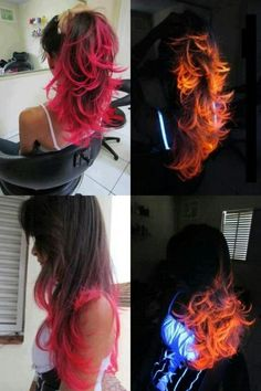 Glow in the dark hair!