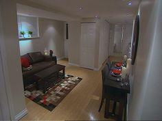 A beautiful basement apartment! I <3 HGTV!