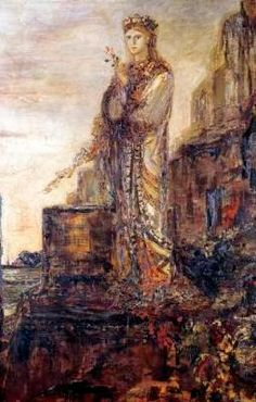 """Moreau """"Helen on the Ramparts of Troy"""""""