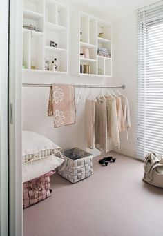 Walk in closet would also like this in my laundry room!