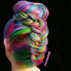 Rainbow hair #btconeshot_rainbow16 #btconeshot_braids16 #btconeshot_color16 by katelsmac You can follow me at @JayneKitsch