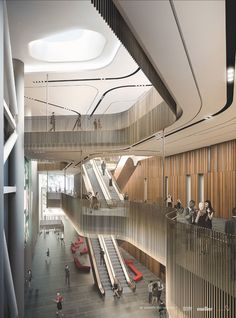 SkyCity convention centre design 'looks like a beached ship' - NZ Herald Mall Design, Lobby Design, Retail Design, Shopping Mall Architecture, Shopping Mall Interior, Lobby Interior, Retail Interior, Commercial Interior Design, Commercial Interiors