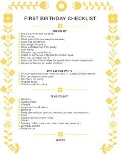 26 Life-easing Birthday Party Checklists - Kitty Baby Love