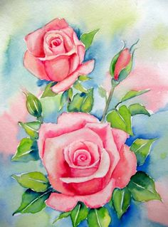 """Roses "", painting by artist Meltem Kilic"