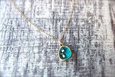 Caribbean Blue Ocean Necklace in 14k Gold $26 by Phenomenal Women