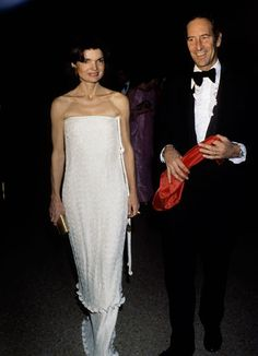 Jackie O & Tom Hoving at the Met Costume Institute party in 1976.