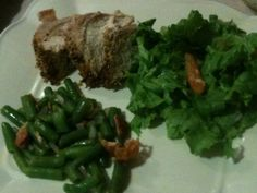 Celebrating Home Bean Pot meal in minutes.  Seasoned Pork Tenderloin, Bacon Seasone Green beans and tossed salad.  All done in less than 35 minutes.  For recipe and directions visit my FB page Celebrating Home With Debbie Benson . www.celebratinghome.com/sites/mimi