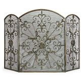 Found it at Wayfair - Royal 3 Panel Wrought Iron Fireplace Screen