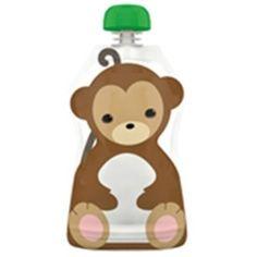 Pochette à collation réutillisable 130 ml - Singe #concours #merehelene Zip Lock, Nutrition, Scooby Doo, Healthy Eating, Snacks, Handkerchief Dress, Monkeys, Pageants, Birth