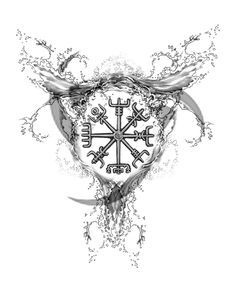 Viking Symbols Tattoos | By Joseph Gilland Viking Water Compass Tattoo Design