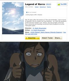 NOOOOO!!! PLEEEEAAAASSSSSE DON'T BE TRUE!!! IT BETTER NOT TURN OUT LIKE THE LAST AIRBENDER MOVIE IF THEY DO MAKE ONE!!!