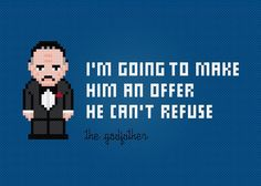 Looking for your next project? You're going to love The Godfather Quote Cross…