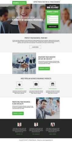 business-insurance-free-quote-resp-lp-03 | Business Insurance Landing Page Design preview.