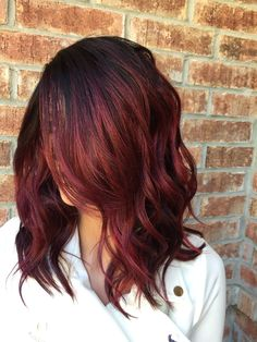 Trendy Hair Color - Highlights : Cherry Red Balayage Human Hair Blend full wig Full wigPaige Bella- Nikki Bella Hair www. Auburn Balayage, Balayage Ombré, Caramel Balayage, Brown Balayage, Balayage Highlights, Ombre Hair Color, Cool Hair Color, Hair Colors, Balayage Straight Hair