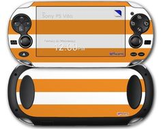 Psycho Stripes Orange and White  Decal Style Skin fits Sony PS Vita -- Be sure to check out this awesome product.Note:It is affiliate link to Amazon.
