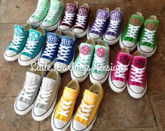 Women's Monogrammed Converse by KatyMicheleDesigns on Etsy