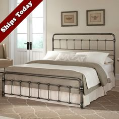 Fremont Iron Snap Bed in Weathered Nickel by Fashion Bed Group